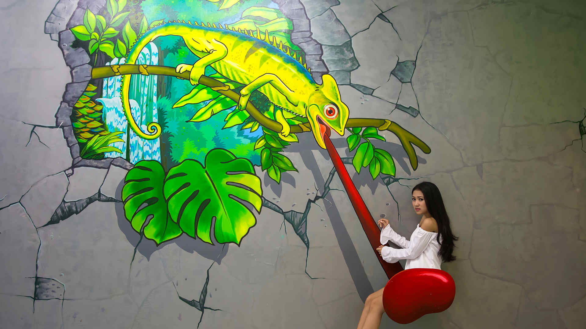 Iambali To Travel To The Interactive 3d Art Museum Bali Indonesia